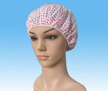 Colorful Disposable Salon and SPA use Disposable PE waterproof Shower cap