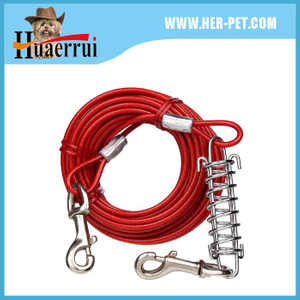 Tie Out Cable with Spring