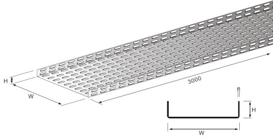 Perforated Type Cable Tray Light Duty