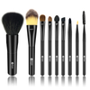 9 Pcs Makeup Brushes Set with Black Pouch Bag Acrylic set brushes