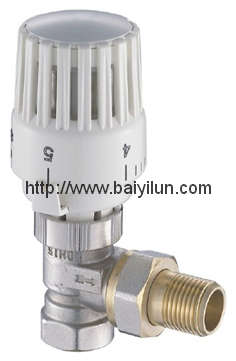 Thermostatic radiator angled valve