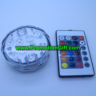 Remote controlled submersible LED light