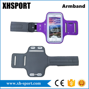 Gym Sport Reflective Phone Bag Armband with Universal Headphome Jack