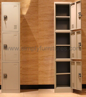 heavy duty steel locker with 3 doors