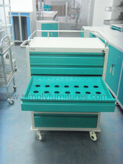 6 drawers crash cart
