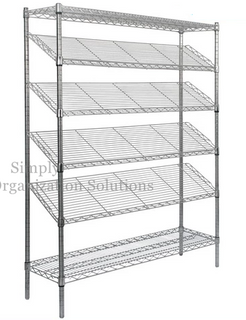 Six-storey tilted shelf unit storage rack with wheels can be selected