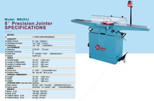 "8"" PRECISION JOINTER"