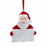 Santa Claus Hold Board Ornament Personalized Christmas Tree Ornament