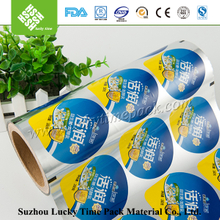 Peelable lidding film for yogurt dairy tube cups