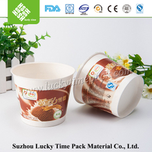 Eco-friendly disposable take away freezer ice cream food container