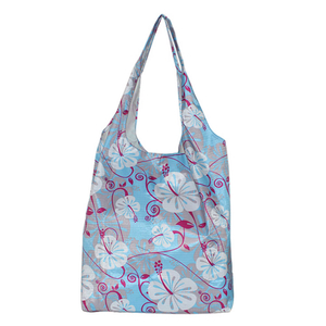 Flower printing reusable shopping bag