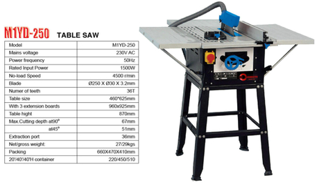 TABLE SAW M1YD-250