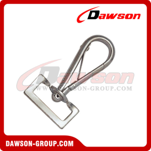 Snap Hook Meia Rodada Com Rectangle Swivel