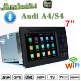 "7""Anti-Glare audi a4 s4 carplay gps car stereo FLASH 2+16G"