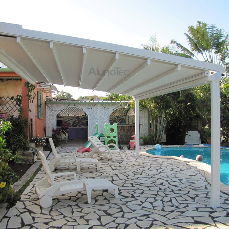 retractable awning pvc pergola roof cover buy pvc