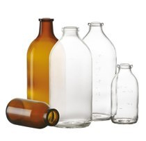 100 ml infusion bottle, clear, type I moulded glass, mouth dia:32mm