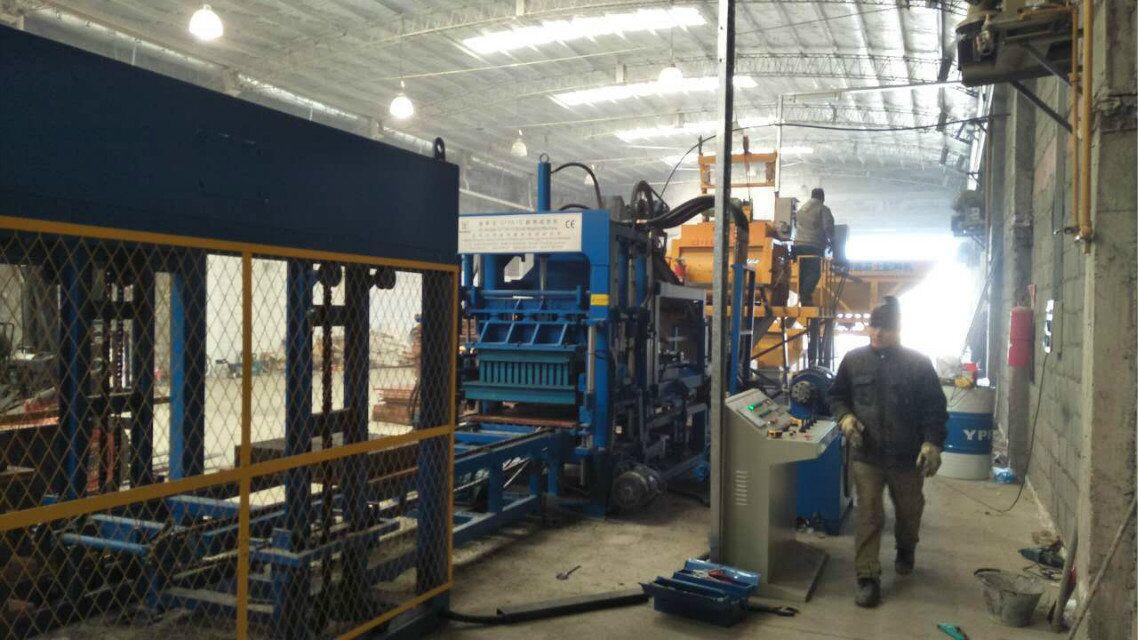 ZCJK block making machine in Argentina