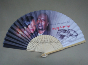 Private Marriage Photo Printed Wedding Gift Paper Fan