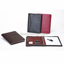 Corporate Business Executive Gift PU Leather Zippered Notebook