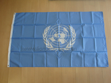 Nylon United Nation Logo Building Flag