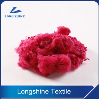 Red Polyester Staple Fiber