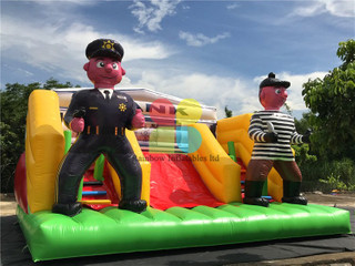 New Arrival Outdoor Inflatable Cops Vs Robbers Crack The Code Game for Sale