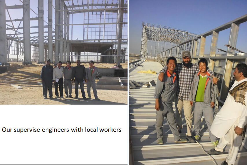 Saudi Arabia steel structure plant project installation on site
