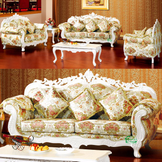 929H Wooden Fabric Sofa with Table for Home Furniture