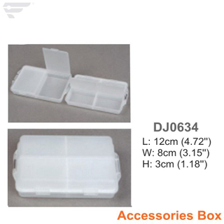 DJ0634 Transparent Plastic Accessories Box