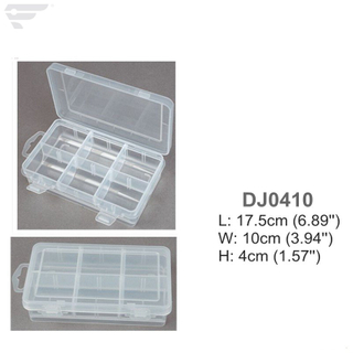 DJ0410 Adjustable 6 Compartment Clear Box
