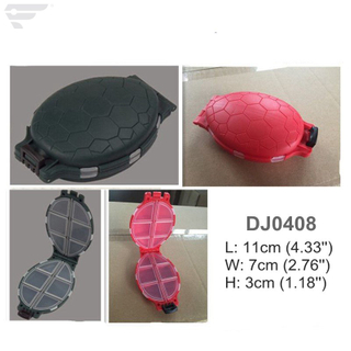 DJ0408 Red Green Blue Plastic Turtle Box