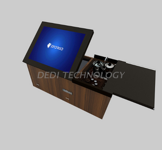 Dedi Popular Video Tea Kiosk Multi Touch Screen Game TablePC All In One Interactive Touch Table