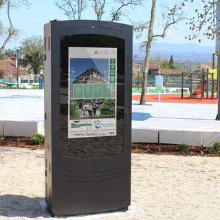 Dedi 65 Inch Floor Standing Outdoor Lcd Advertising Display Totem Touch Screen Kiosk