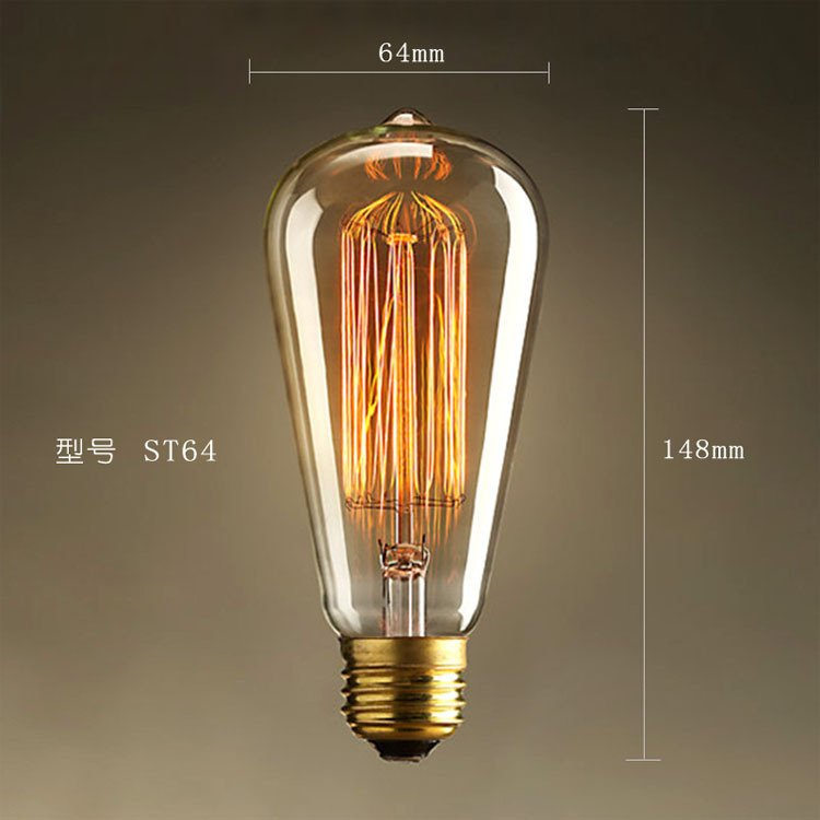 Chinese Manufacture Hot Selling St64 Edison Bulb Vintage LED Bulb St64 40/60W LED Light