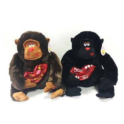 Plush Valentine Gift Stuffed Lovely Orangutan Toys with Red Lip