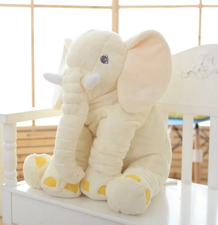Hot Sale Plush Stuffed Baby White Elephant Pillow