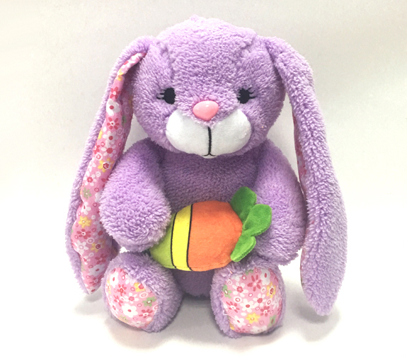 Lovely Easter Rabbit Stuffed Toys with Carrot Shape Egg