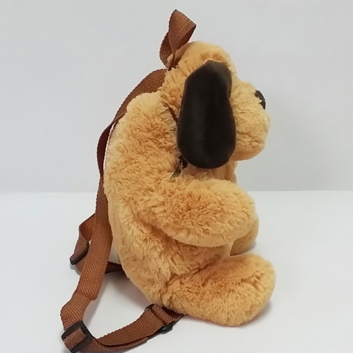 Plush Soft Toy Dog School Backpack for Kids