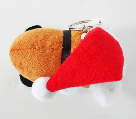 Cute Stuffed Animals Soft Plush Toy Keychain with Hat