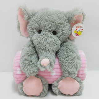 Stuffed Soft Plush Elephant Toy Baby Blanket