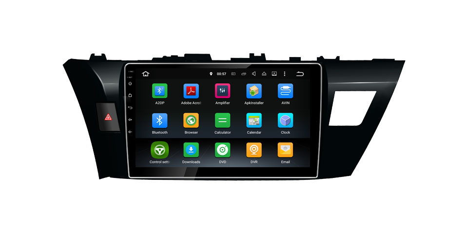 Car DVD GPS Navigation Wifi Radio Android 9.0 For Toyota Corolla 2014-2016 carplay auto
