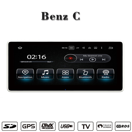 "10.25""Benz C/GLC android 5.1 gps navigation,wifi connection,3g internet,DAB"