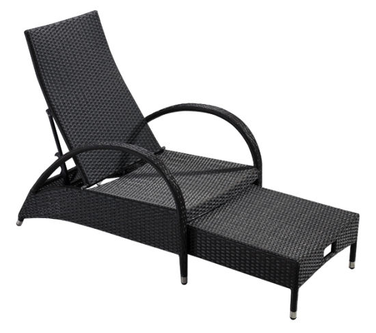 Garden Wicker/Rattan Pool Chaise Lounge Set - Outdoor furniture (LN-910)