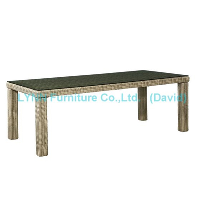 Outdoor Garden Furniture Long Rattan Dining Table