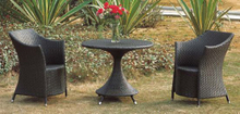 Outdoor Bistro Set Rattan Bistro Chairs with Coffee Table