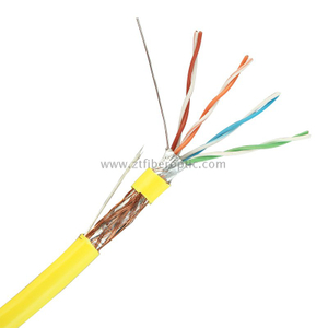 Factory Price 4pairs 24AWG SFTP CAT5E NETWORK CABLE with CE ROHS UL Standard