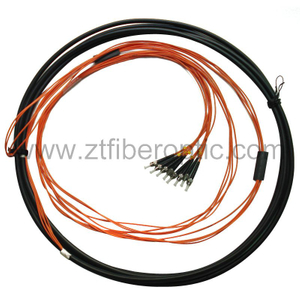 Waterproof Multicore St Fiber Optical Pigtail