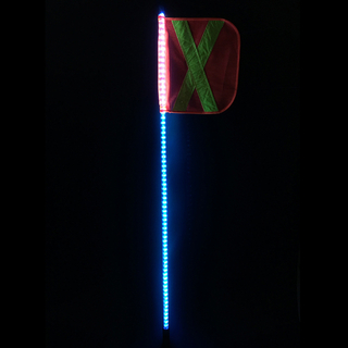 6ft Solid color LED lighted whips