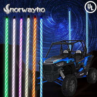 6ft Multi color LED lighted whips flagpole