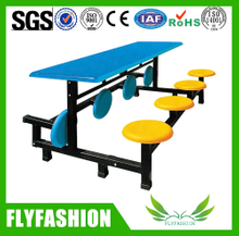 Popular school canteen dining hall tables and chairs for sale (DT-12)